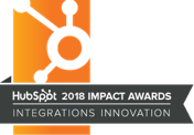 HubSpot Impact Awards Integrations Innovation 2018